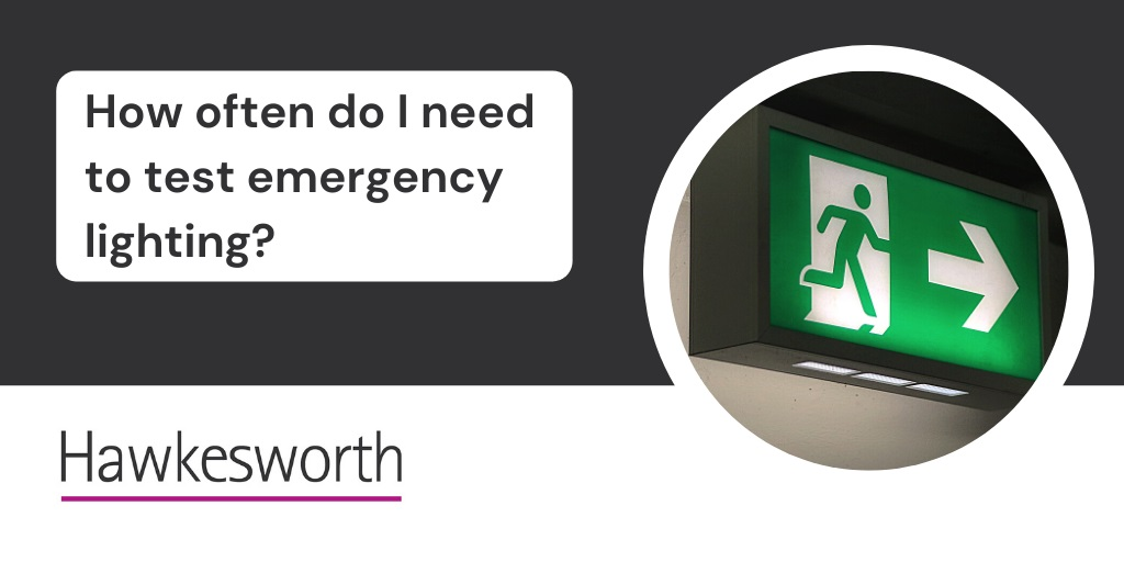 How often does emergency lighting need to be tested?