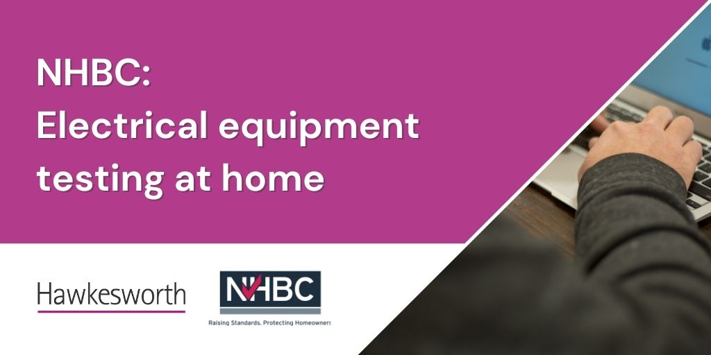PAT testing at home with NHBC